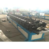 Buy cheap Column Door Frame Roll Forming Machine 14mm Plate Gear Driving PLC Controller from wholesalers