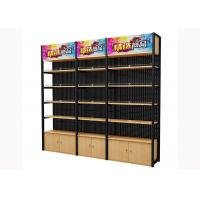 Cold Rolled Steel Supermarket Shelving Wood Gondola Shelving Classic Style