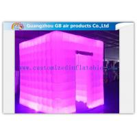 China Multicolor Led Inflatable Photo Booth Enclosure / Inflatable Photo Studio for Club wholesale