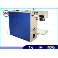 China Raycus / Max laser source 20w fiber laser marking machine portable for stainless steel on sale