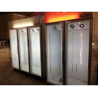 Quality Cold Chian Glass Door Freezer Display Cabinet Electronic thermostat control for sale