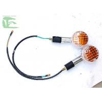 China Crystal , Orange Motorcycle Led Turn Signals / Motor Tricycle Turn Lamp on sale