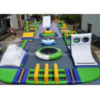 China Floating Airtight Outdoor Inflatable Water Park With Iceberg And Swing Elements wholesale