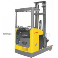 China Narrow Aisle Reach Truck Forklift 1.5 Ton Seated Type For Warehouses / Supermarkets wholesale