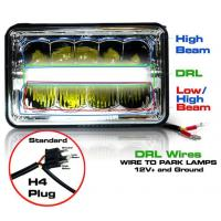 Quality 5 Inch 45W LED Headlights Jeep Wrangler Hi / Low Beam Square Waterproof for sale