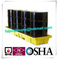 China HDPE Chemical Spill Containment Trays Leak Proof For 4 Oil Drum wholesale