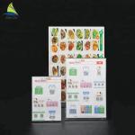 China Customized Clear Acrylic Slanted Design menu holder acrylic Sign wholesale