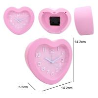 Quality 3D Glass Crystal Heart Shape Desk Clock For Home Decoration for sale
