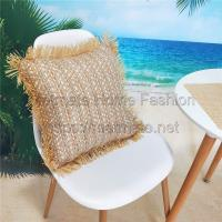 China 85% PP Raffia+15% PET,18*18 inch,White,grey,red,pink,Patio Furniture Chair Seat Cushion Covers wholesale