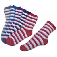 China Stripe pattern ,Aloe Infused SPA Socks polyester plush therapy spa sock wholesale