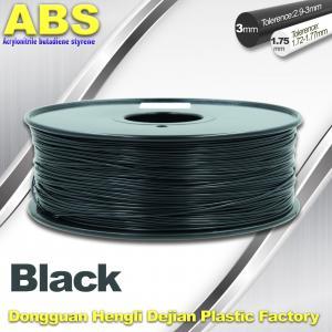China Black 1.75mm /3.0mm 3D Printer Filament , Ultimaker 3D Printer Consumables ABS Filament wholesale