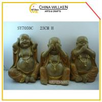 Buy cheap Resin Cute Happy Buddhas for Home Decoration from wholesalers