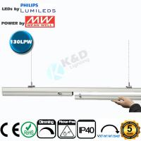 China Connectable 4 Feet 50W Linear LED Light Fixtures Low Light Decay CE RoHS Listed wholesale
