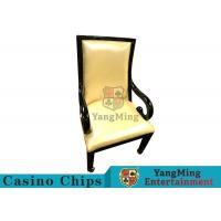 China Elegant Casino Gaming Chairs With Metal Legs And European Radian Handrails wholesale