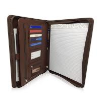 China Personalized Leather Padfolio With Zipper , Professional Leather Business Padfolio on sale
