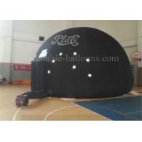 China Black Dome Inflatable Event Tent Rental Large 18oz PVC High Strength EN71 wholesale
