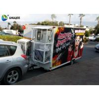 Quality Funny and Realistic Truck Mobile 5D Cinema With Motion Luxurious Seat for sale