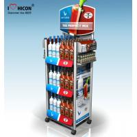 China Within Budget Solution Metal Display Racks On Wheels Freestanding For Retail Store wholesale