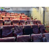 China High Definition Film Projector 4D Theather With Movement Chair Orange wholesale