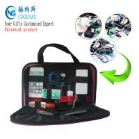 China Elastic GRID Gadget Organizer , Black Electronic Gadget Organizer on sale