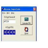 China Nissan Super Code Software, Nissan Pin Code Calculator For Programming Keys wholesale
