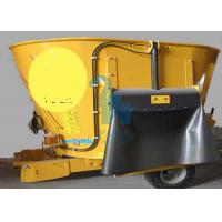 China Tulip Yellow Dairy Farm Vertical TMR Feed Mixer Machine For Feed Processing wholesale