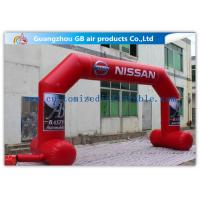 China OEM / ODM Red Custom Inflatable Arch With Stable Legs Digital Printing wholesale