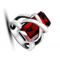 China Latest Design Jewelry Punk Rock Red Stone Rings Non - Allergic For Women / Party wholesale