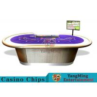 China Professional Luxury BaccaratPoker Game Table With Chip Tray For 9 Players wholesale