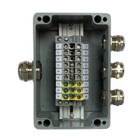 China Die-cast Aluminum Enclosure Case Project Junction Box 150*100*80mm with UK6N Din Rail Terminal Blocks on sale