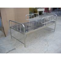 China Stainless Steel Hospital Furniture Medical Bed Manual with cranks wholesale