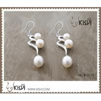 China 925 wholesale silver gemstone earrings with immitation pearl W-S175 wholesale