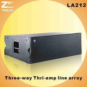 "China LA212, Dual 12"" Three-Way, Thri-AMP Outdoor Big Line Array Speaker wholesale"