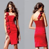 China One Shoulder Short Satin Prom Dress (AL20124) on sale