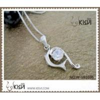 Quality Fashion Jewelry 925 Sterling Silver Gemstone Pendant with Zircon W-VB1036 for sale