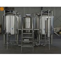 China 10HL Industrial Beer Brewing Equipment Stainless Steel Full Set Auto / Manual Control wholesale