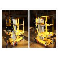 China Easy Loading Vertical One Person Lift , 7.6 M Platform Height Hydraulic Aerial Lift wholesale