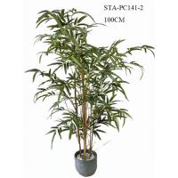 China CE Artificial Decorative Trees , Artificial Bamboo Tree Lush Vibrant Leaves Real Bamboo Stems wholesale
