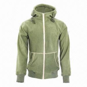 China Men's and Lady's Fleece Black/Army Green Lifestyle Hoody Jacket/Coat wholesale