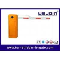 Buy cheap Security Straight Barrier Gate With Yellow Cabinet and Steel-casting Design product