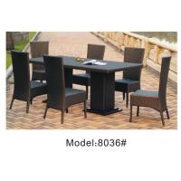 China 6pcs patio wicker dining chairs -8036 wholesale