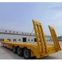 China 50T Loading Capacity Second Hand Semi Trailers With Carbon Steel Flat Bed wholesale