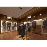 China Retail Shop Fixtures / Clothing Display Case Top Grade Grained Veneer Wooden Material wholesale