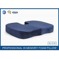China Pressure Relief Visco Memory Foam Wedge Seat Cushion For Plane And Wheelchair on sale