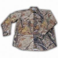 China Hunting Shirt with Realtree Camo and Cotton Fabric Shell wholesale