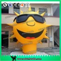 China 3m Sunglasses Advertising Inflatable Sun Cartoon/Event Party Inflatable Sun Decoration wholesale