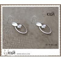 China Elegant designs and excellent finishing silver gemstone earrings with rhodium plated wholesale