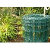 100 x 50mm Holland Garden Wire Mesh , Green Plastic Coated Wire Border Fence