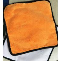 China Microfiber 30*30cm 400gsm Orange Colorful Coral Fleece 200gsm Suede Car Cleaning Cloth wholesale