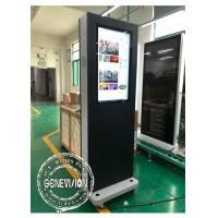 China Movable 32 Inch Win10 Advertising Standee Computer With Wheels , 1500cd / M2 wholesale